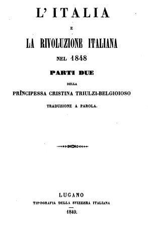 L'Italia e la rivoluzione italiana nel 1848
