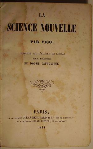 La Science Nouvelle, Vico et ses ouvres