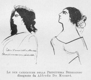 Cristina in una caricatura di De Musset