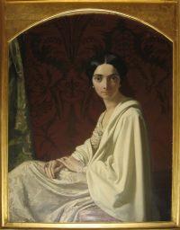 Cristina ritratta da Henri Lehmann <br /> Da collezione privata Marchese Dal Pozzo d'Annone<br /> (riproduzione vietata in ogni sua forma)